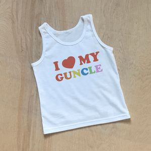 I Heart My Guncle Kids Tank Top at Hi Little One