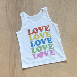All the Love Kids Pride Tank Top | Celebrate Pride in Style at Hi Little One