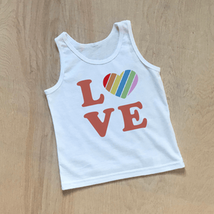 Love Rules Kids Tank Top at Hi Little One