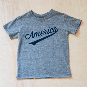 America Kids Vintage Grey T-shirt at Hi Little One