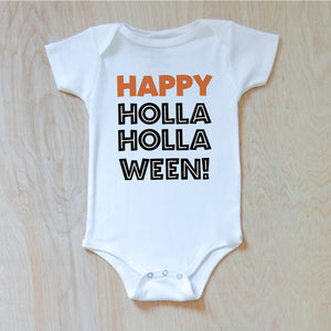 Happy HOLLAween Onesie at Hi Little One