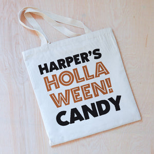 Personalized HOLLAween Candy Tote at Hi Little One