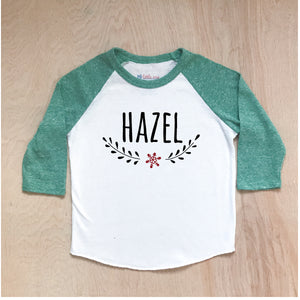 Classic Winter Personalized Raglan at Hi Little One