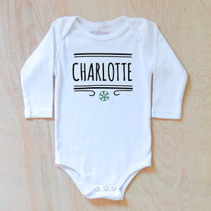 Classic Winter Personalized Onesie at Hi Little One