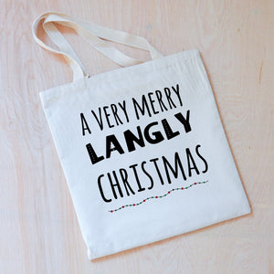 A Very Merry Personalized Tote at Hi Little One