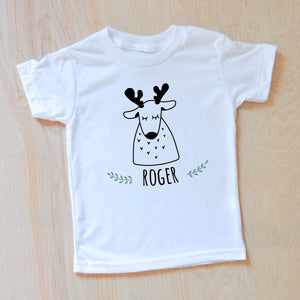 Reindeer Personalized T-shirt at Hi Little One