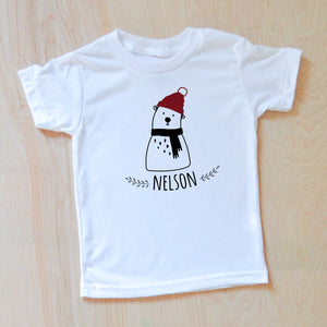 Polar Bear Personalized T-shirt at Hi Little One