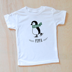Penguin Personalized T-shirt at Hi Little One