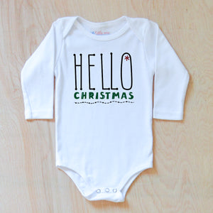 Hello Christmas Onesie at Hi Little One