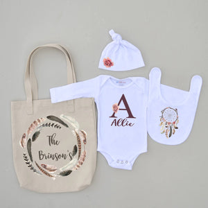 Personalized Bohemian 4 Piece Set at Hi Little One