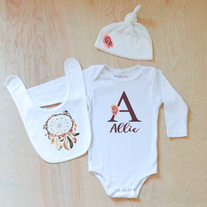 Personalized Boho 3 Piece Set at Hi Little One