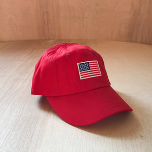 Infant American Flag Baseball Hat at Hi Little One