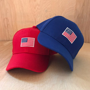 Toddler American Flag Baseball Hat at Hi Little One
