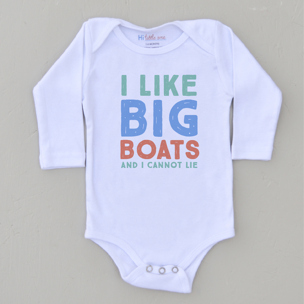 I Like Big Boats Onesie at Hi Little One