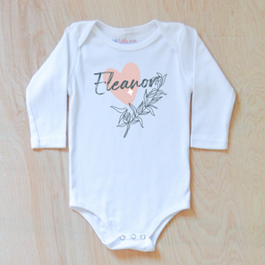 Celestial Love inspired personalized onesie.