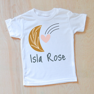 Celestial Love Personalized Kids T-Shirt