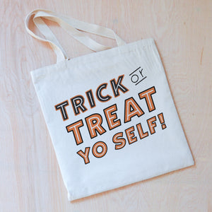 Trick or Treat Yo Self Tote at Hi Little One