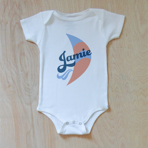 Vintage Summer Breezy Personalized Onesie