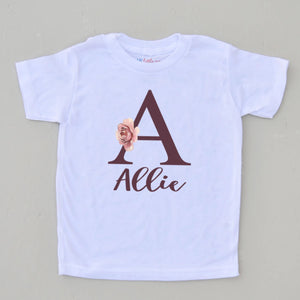 Custom Initial Boho T-Shirt at Hi Little One