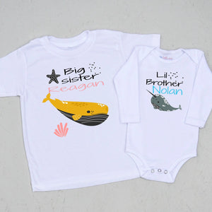 Big Sis/Little Bro Aquatic Set at Hi Little One