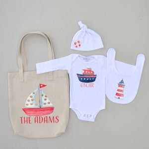 Stylish Sailor 4-Piece Set at Hi Little One