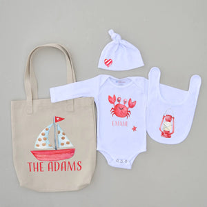 Little Crab 4-Piece Set at Hi Little One