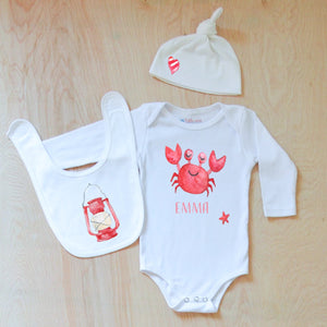 Little Crab 3-Piece Set at Hi Little One
