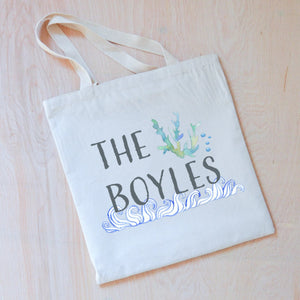 Beachy Personalized Tote at Hi Little One