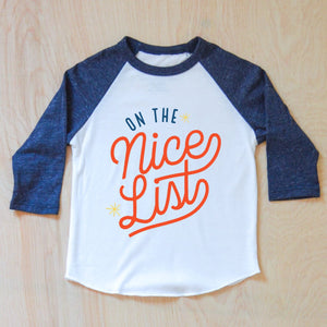 On the Nice List for Christmas this year Raglan at Hi Little One