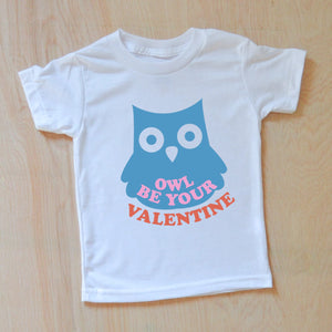 Owl be your Valentine Kids T-Shirt