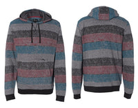 Burnside® Printed Striped Marl Pullover 8603