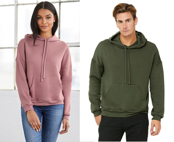 BELLA + CANVAS Unisex Sponge Fleece DTM Hoodie 3729