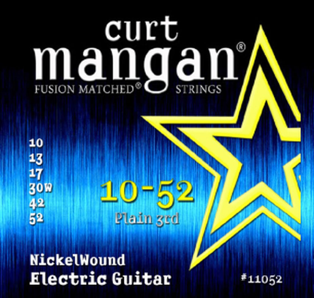 CURT MANGAN 10-56 PLAIN 3RD NICKELWOUND ELECTRIC GUITAR STRINGS