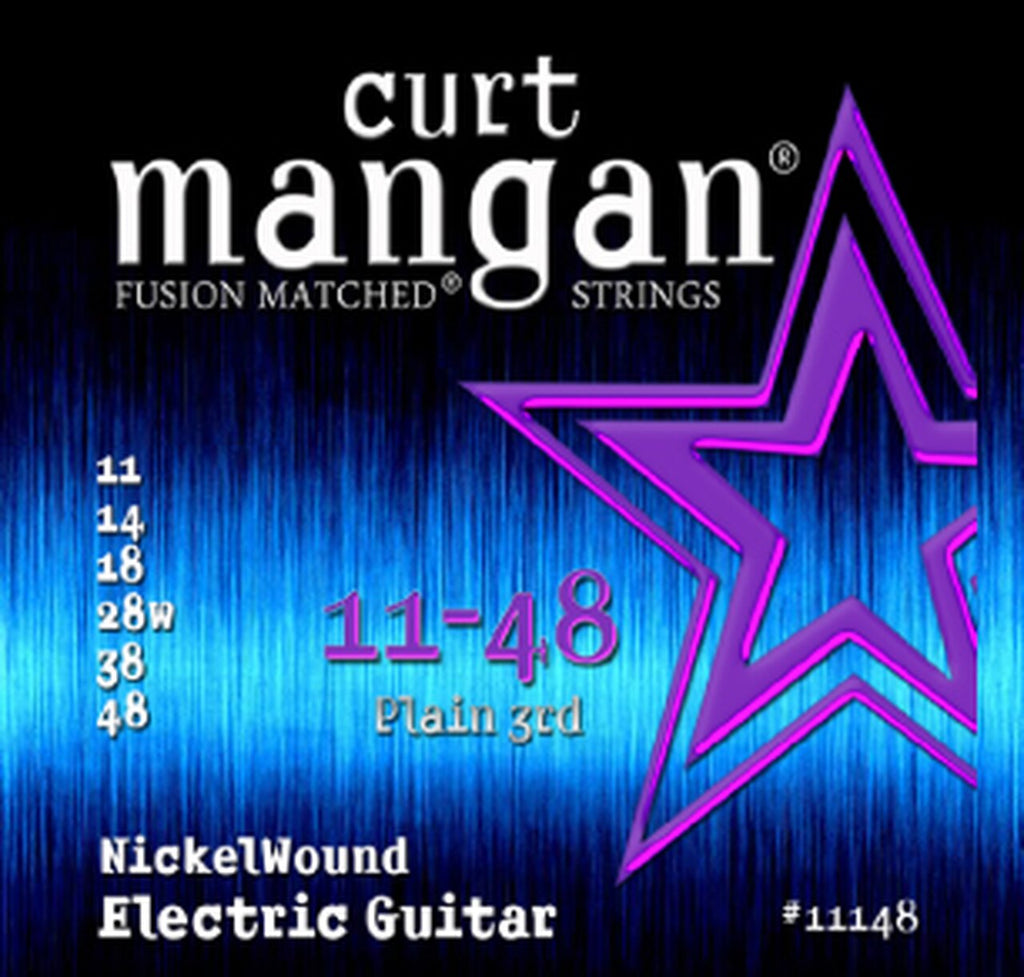 CURT MANGAN 11-48 PLAIN 3RD NICKELWOUND ELECTRIC GUITAR STRINGS
