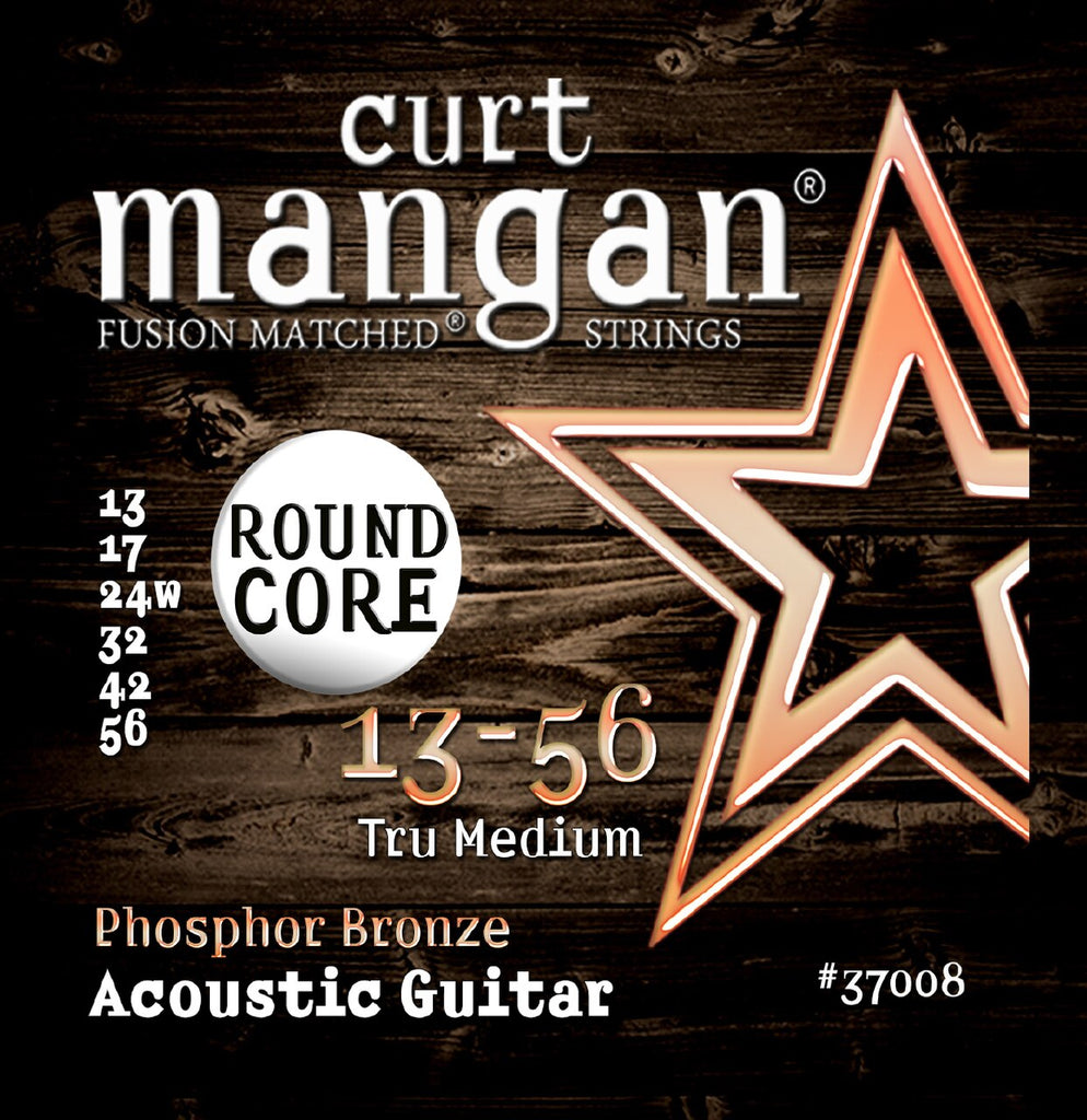 CURT MANGAN 13-56 MEDIUM PHOSPHOR BRONZE ACOUSTIC GUITAR STRINGS