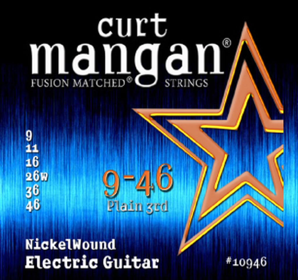 CURT MANGAN 9-46 PLAIN 3RD NICKELWOUND ELECTRIC GUITAR STRINGS