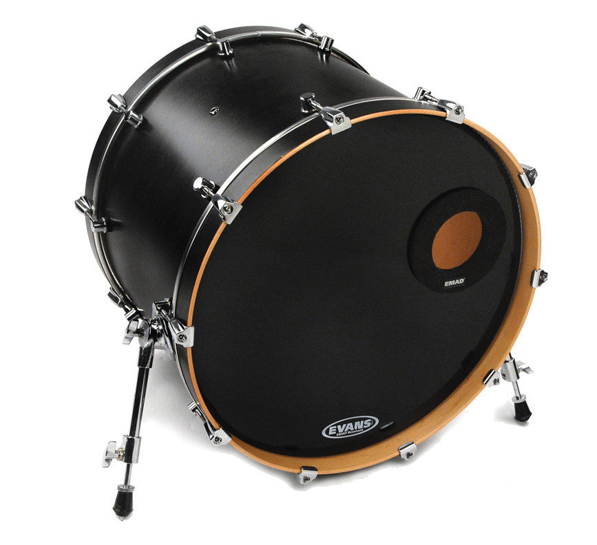 "Evans EMAD 22"" Ported Black Resonant Drum Head"