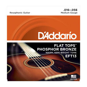 D'Addario FlatTops Resophonic Guitar Strings Medium (.016-.056)