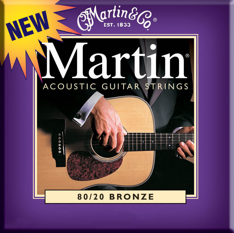 Martin M175 Custom Light Acoustic Guitar Strings (.011-.052)