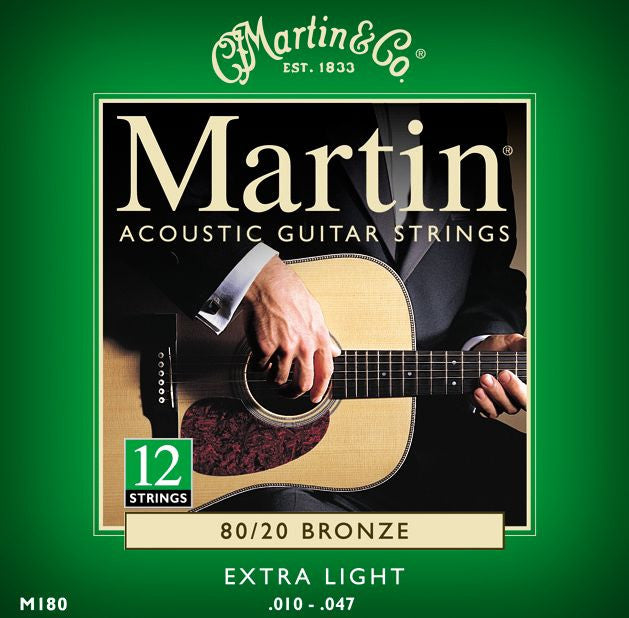 Martin Acoustic 12-String Guitar Strings Extra Light (.010-.047)