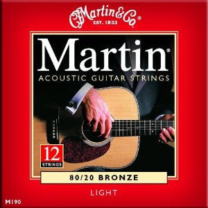 Martin Acoustic 12-String Guitar Strings Light (.012-.054)