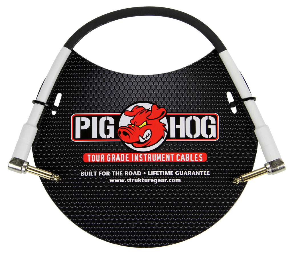 Pig Hog 1' Rubber Instrument Cable Right Angle/Right Angle