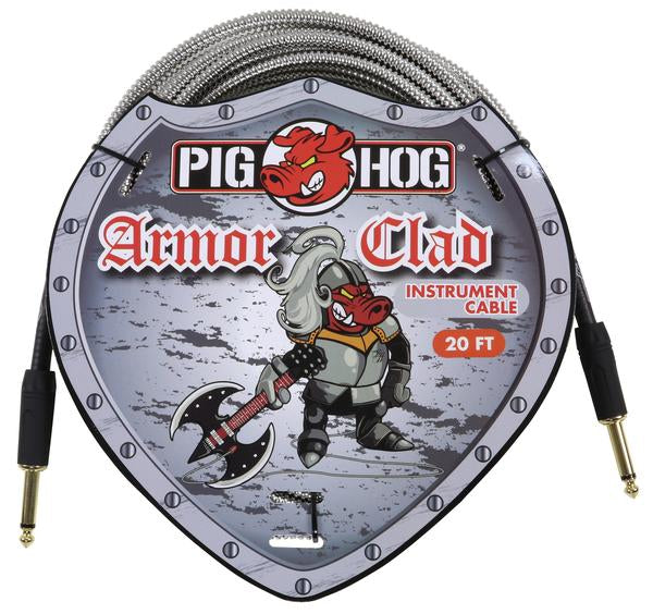"Pig Hog ""Armor Clad"" Instrument Cable, 20ft"