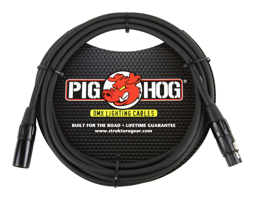 Pig Hog 10' DMX Lighting Cable