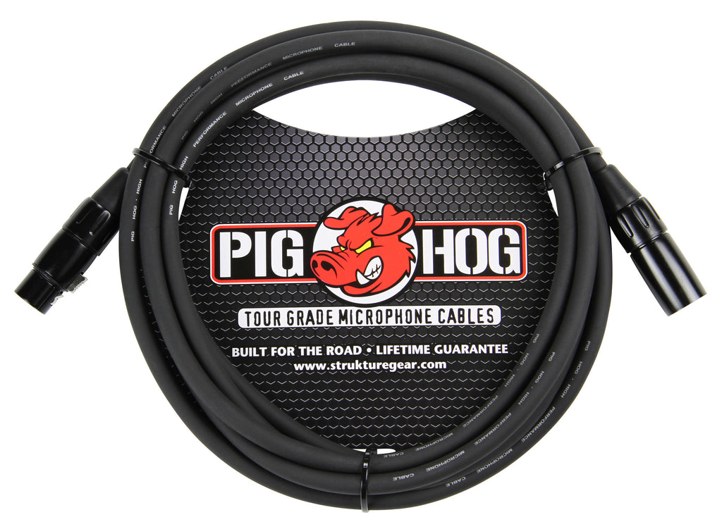Pig Hog 10' Ruber 8mm Microphone Cable