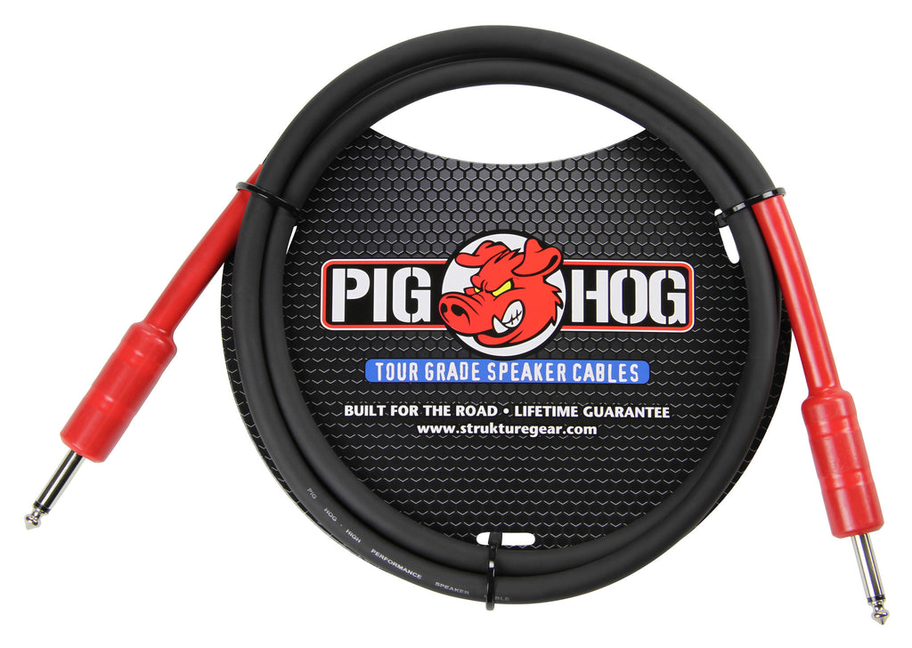 "Pig Hog 5' Rubber 1/4"" Speaker Cable"