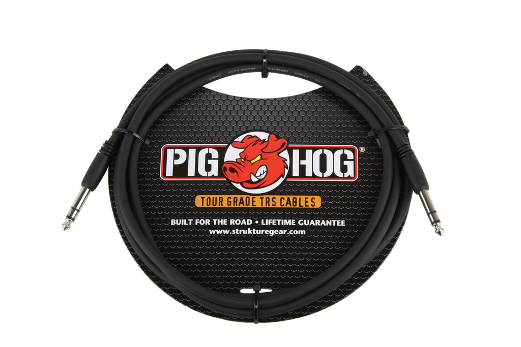 "PIG HOG 6FT 1/4"" TRS - 1/4"" TRS CABLE PTRS06"