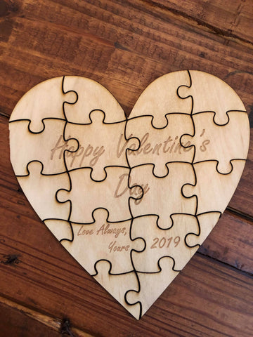 Engraved Heart Puzzle