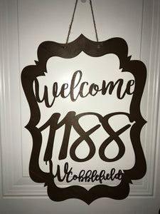 Personalized Address Door Decoration