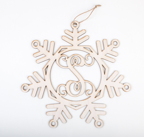 Monogrammed Snowflake Door Decor